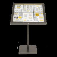 Display 6xA4 iluminat LED si telecomanda