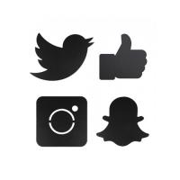 Tablita Wall Silhouette Social Media