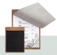 Clipboard lemn + coperta piele